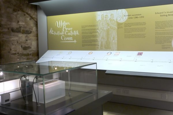 Stirling Castle, Wallace & Bruce exhibition, timeline and showcase