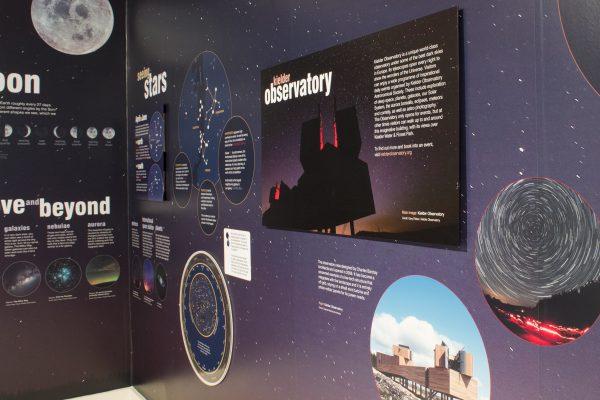 Dark Skies, Bright Stars, interpretation at Tower Knowe Visitor Centre